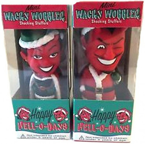 Funko Happy Hell-o-Days Wacky Wobbler El Diablo & Demonique Set of 2 Bobble Heads