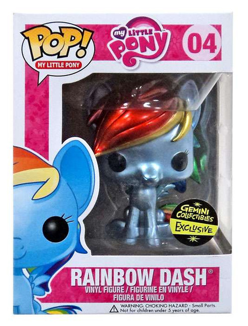 Funko POP! My Little Pony Rainbow Dash Exclusive Vinyl Figure [Metallic]