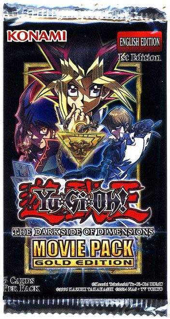 YuGiOh Trading Card Game Dark Side of Dimensions Movie Pack GOLD Edition Booster Pack [5 Cards]