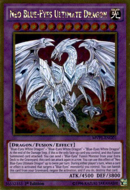 YuGiOh Dark Side of Dimensions Gold Edition Gold Rare Neo Blue-Eyes Ultimate Dragon MVP1-ENG01