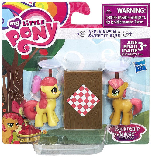 My Little Pony Friendship is Magic Collection Apple Bloom & Sweetie Babs 2-Inch Figure