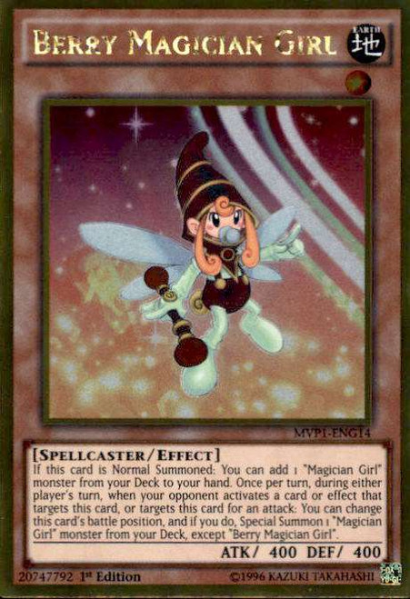 YuGiOh Dark Side of Dimensions Gold Edition Gold Rare Berry Magician Girl MVP1-ENG14