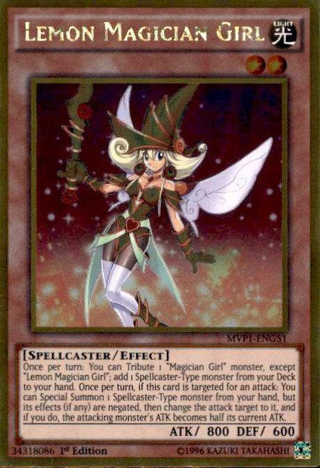 YuGiOh Dark Side of Dimensions Gold Edition Gold Rare Lemon Magician Girl MVP1-ENG51