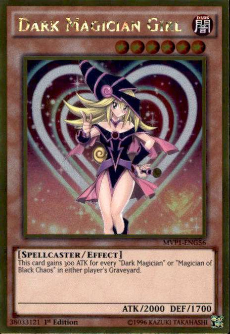 YuGiOh Dark Side of Dimensions Gold Edition Gold Rare Dark Magician Girl MVP1-ENG56