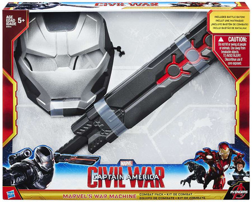 Captain America Civil War War Machine Combat Pack Roleplay Toy [Mask & Battle Baton]