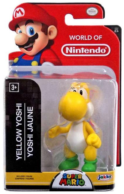 World of Nintendo Super Mario Yellow Yoshi 2.5-Inch Mini Figure