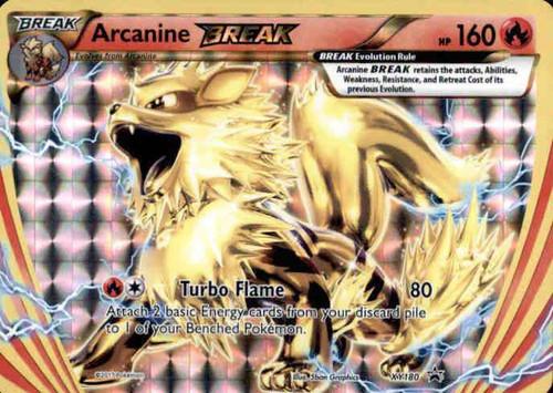 Pokemon X & Y Promo Rare Holo BREAK Arcanine BREAK XY180