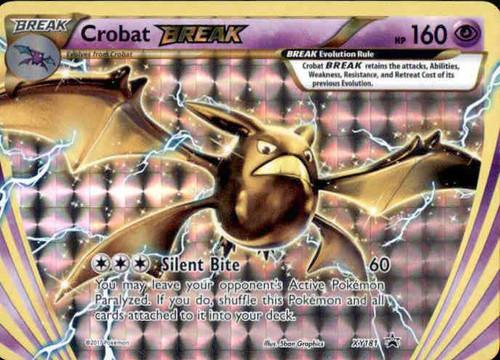 Pokemon X & Y Promo Rare Holo BREAK Crobat BREAK XY181