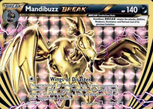 Pokemon X & Y Promo Rare Holo BREAK Mandibuzz BREAK XY182