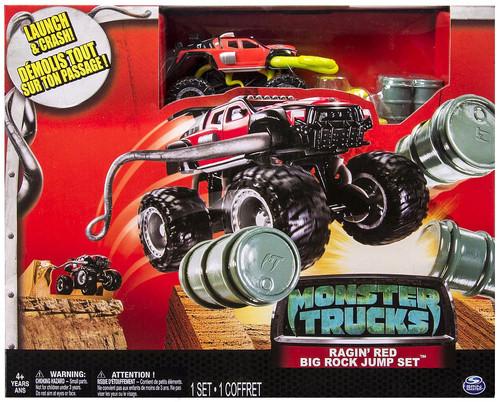 Monster Trucks Ragin' Red Big Rock Jump Set