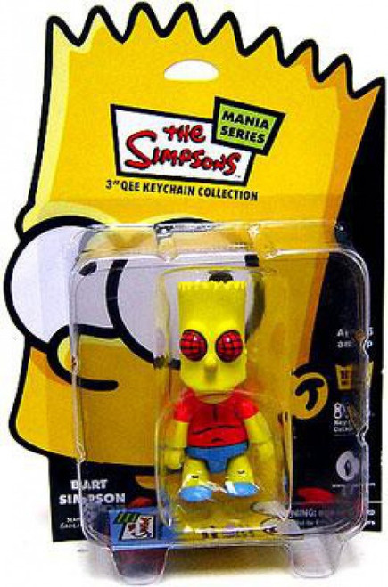 The Simpsons Mania Series Bart Simpson 3-Inch Qee Keychain [Fly]