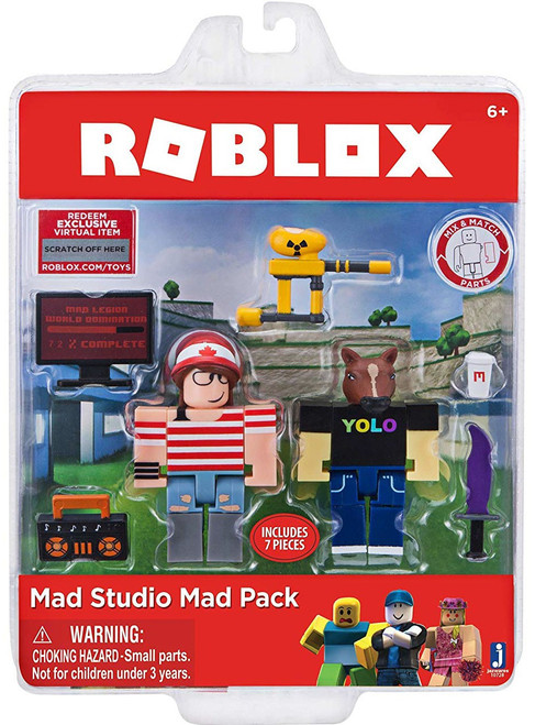 Roblox Mad Studio Action Figure Game Pack