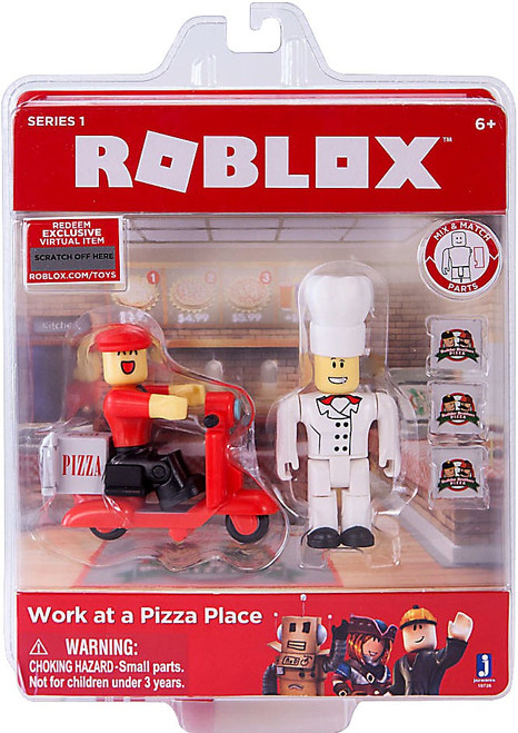 Roblox Work at a Pizza Place Action Figure Game Pack