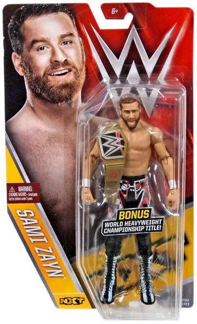 WWE Wrestling Series 61 Sami Zayn Action Figure [NXT,World Heavyweight Championship Title]