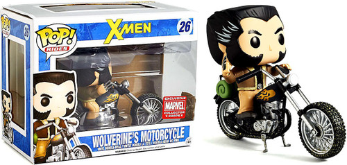 Funko POP! Marvel Wolverine's Motorcycle Exclusive Vinyl Bobble Head #26
