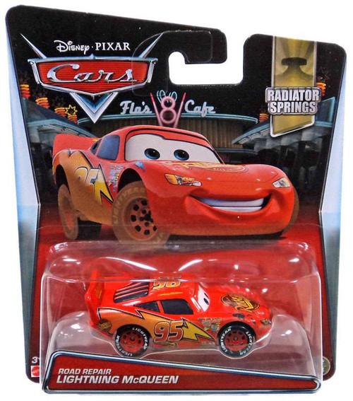 Disney / Pixar Cars Radiator Springs Road Repair Lightning McQueen Diecast Car #12/14