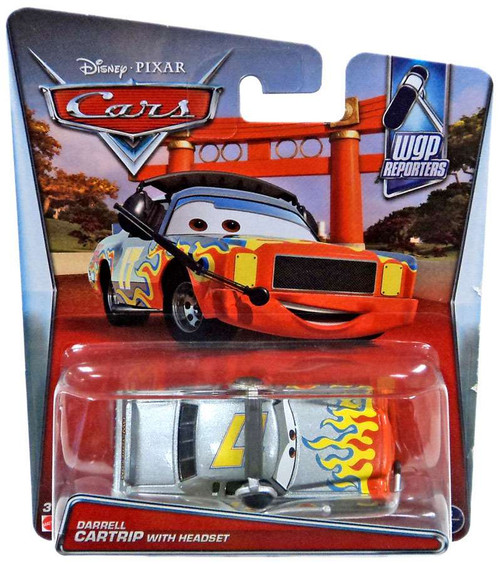 Disney / Pixar Cars WGP Reporters Darrell Cartrip with Headset Diecast Car #3/4