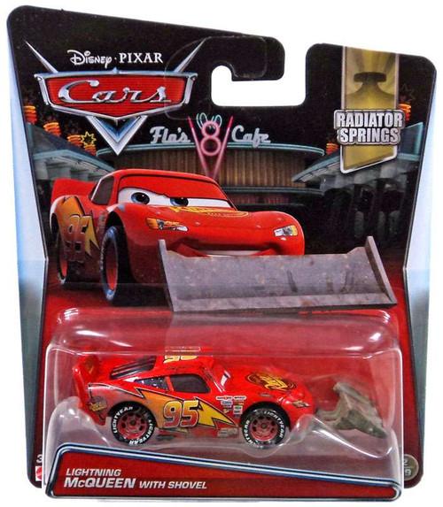 Disney / Pixar Cars Radiator Springs Lightning McQueen with Shovel Diecast Car #2/19