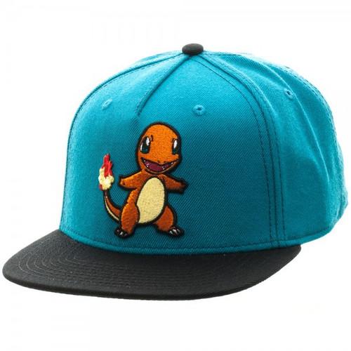 Pokemon Charmander Color Block Snapback Cap Apparel