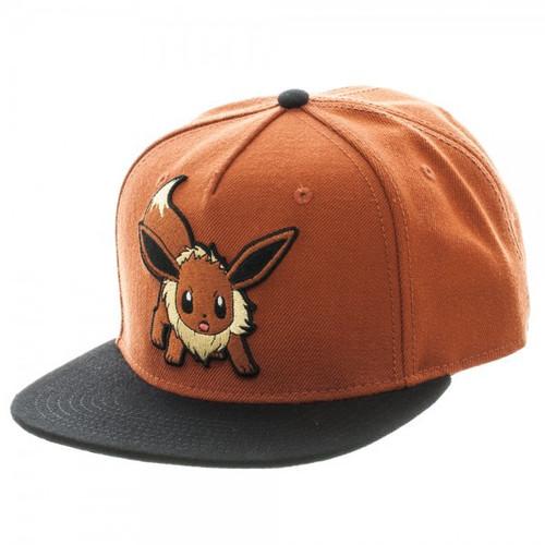 Pokemon Eevee Color Block Snapback Cap Apparel
