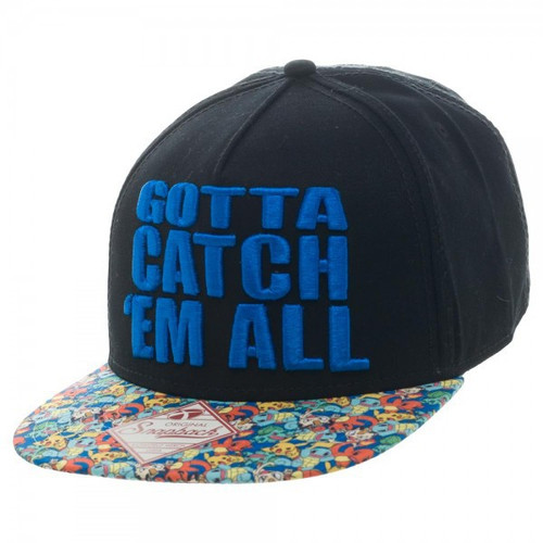 Pokemon Gotta Catch 'Em All Snapback Cap Apparel
