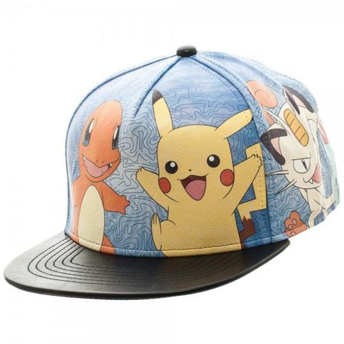 Pokemon Printed PU Snapback Cap Apparel