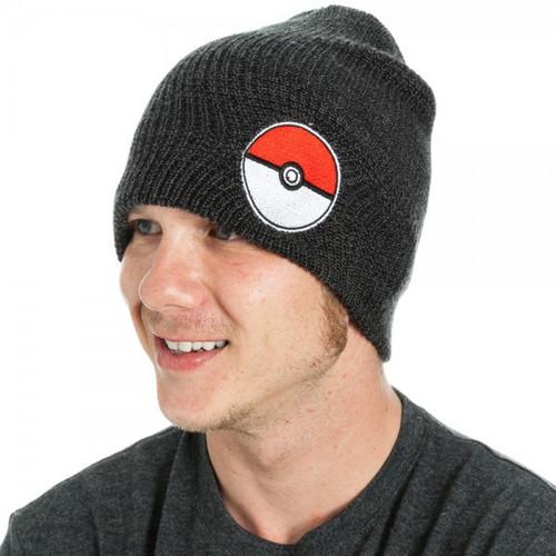 Pokemon Poke Ball Black Soulch Beanie Hat Apparel