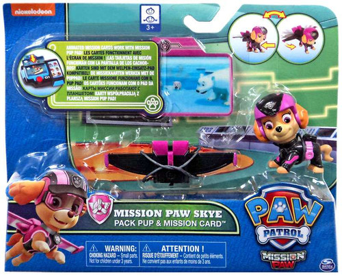 Paw Patrol Pack Pup & Mission Card Mission Paw Skye Exclusive Figure