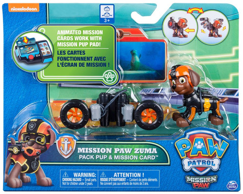 Paw Patrol Pack Pup & Mission Card Mission Paw Zuma Exclusive Figure