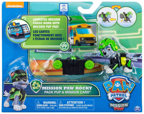 Paw Patrol Pack Pup & Mission Card Mission Paw Rocky Exclusive Figure