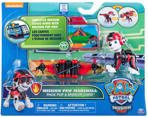 Paw Patrol Pack Pup & Mission Card Mission Paw Marshall Exclusive Figure