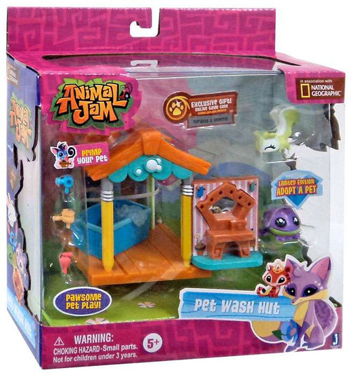 Animal Jam Pet Wash Hut Playset