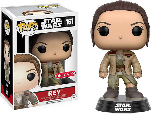Funko The Force Awakens POP! Star Wars Rey Exclusive Vinyl Bobble Head #161 [Finn's Jacket, Damaged Package]