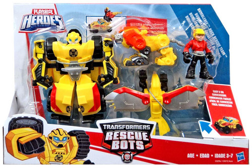Transformers Playskool Heroes Rescue Bots Bumblebee Rock Rescue Team Action Figure 4-Pack
