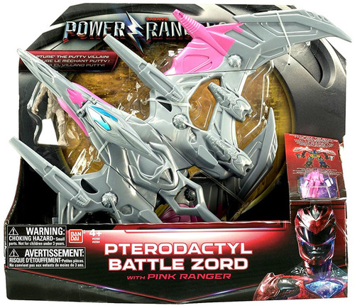 Power Rangers Movie Pterodactyl Battle Zord with Pink Ranger Action Figure