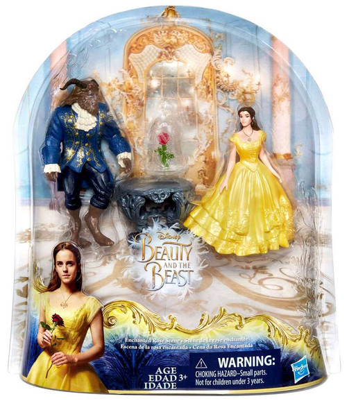 Disney Princess Beauty and the Beast Enchanted Rose Figure Set