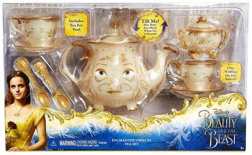 Disney Princess Beauty and the Beast Enchanted Objects Tea Set Playset