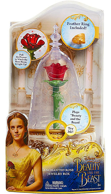 Disney Princess Beauty and the Beast Enchanted Rose Jewelry Box