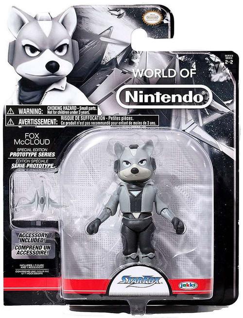 World of Nintendo Starfox Prototype Series Fox McCloud Action Figure