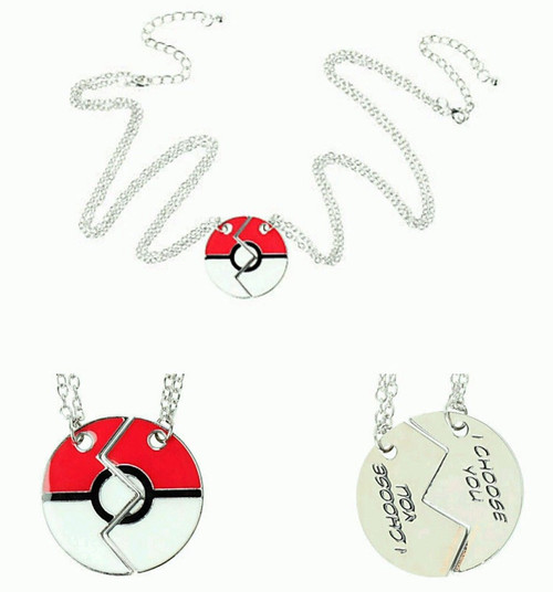 Pokemon Poke Ball I Choose You Necklace