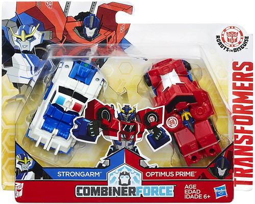 Transformers Robots in Disguise Optimus Prime & Strongarm Action Figure [Crash Combiner]
