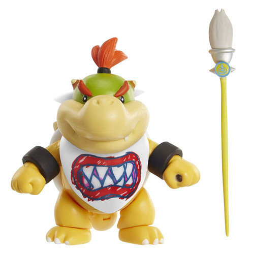 World of Nintendo Bowser Jr. with Paint Brush Action Figure