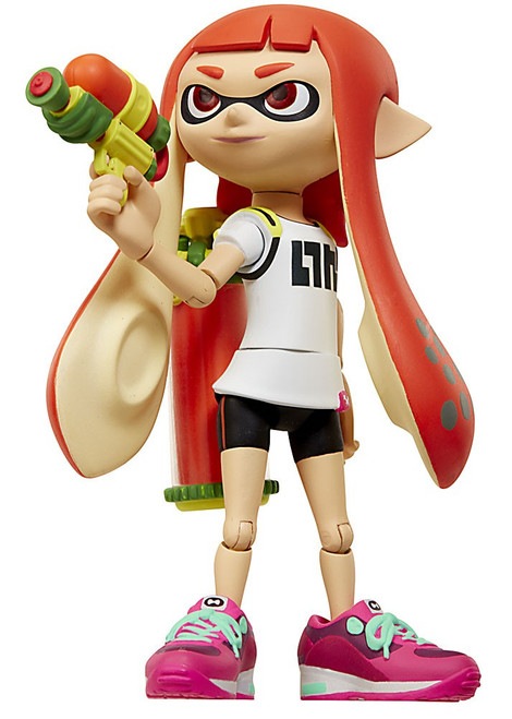 World of Nintendo Inkling Girl with Blaster Action Figure