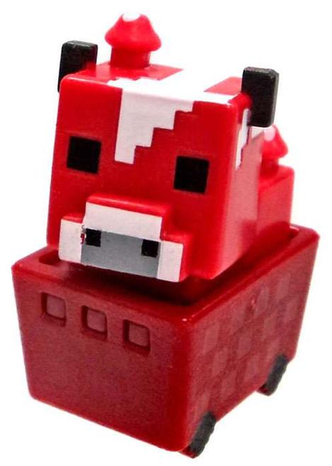 Minecraft Minecart Mooshroom in Cart 1-Inch Mini Figure [Loose]