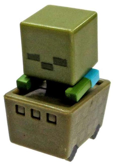 Minecraft Minecart Zombie in Cart 1-Inch Mini Figure [Loose]