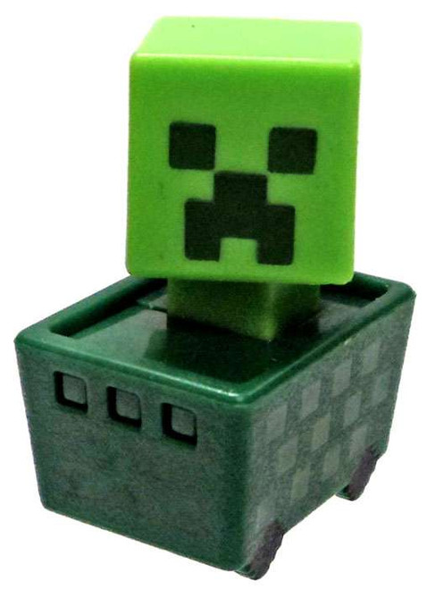 Minecraft Minecart Creeper in Cart 1-Inch Mini Figure [Loose]