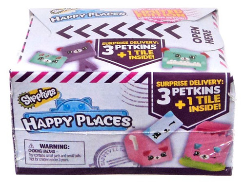 Shopkins Happy Places Series 2 Petkins Surprise Delivery Mystery Pack [3 Petkins & 1 Tile]