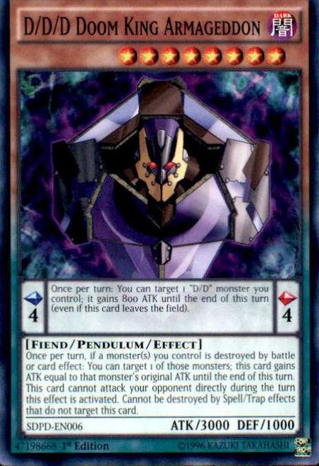 YuGiOh Pendulum Domination Structure Deck Common D/D/D Doom King Armageddon SDPD-EN006