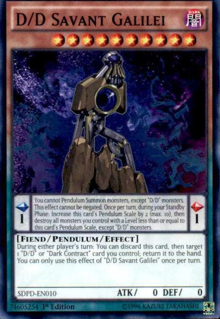 YuGiOh Pendulum Domination Structure Deck Common D/D Savant Galilei SDPD-EN010