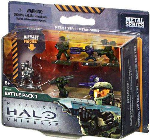 Mega Bloks Halo Metal Series Battle Pack 1 Set #97034 [Damaged Package]